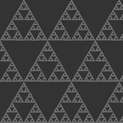 Sierpinski Triangle in dark neutral greys