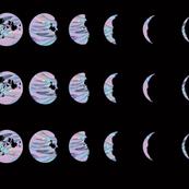 Holomoon Chart - Hologram Moon Lunar Phases on Black