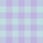 90's Buffalo Check Plaid in Mint/Lilac Pastel
