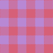 90's Buffalo Check Plaid in Hot Coral/Electric Lilac