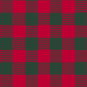 90's Buffalo Check Plaid in Christmas Red/Dark Green