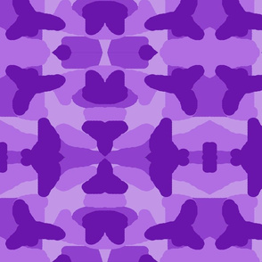 Purple Camo Camouflage Woodland Hunting