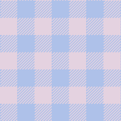 90's Buffalo Check Plaid in Baby Blue/Baby Pink