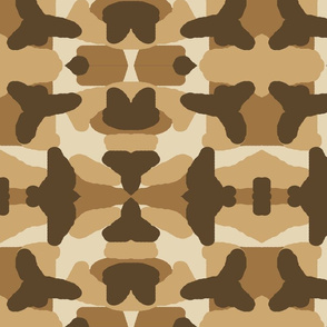 Brown Tan Camo Camouflage Rustic Woodland Hunting