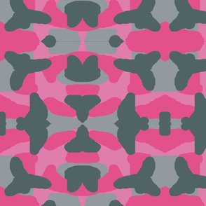 Hot Pink Grey Gray Camo Camouflage