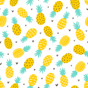 Pineapple and hearts