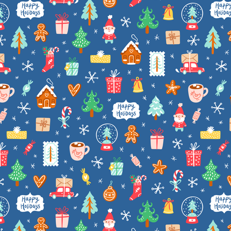 Winter holidays symbols fabric by stolenpencil on spoonflower custom