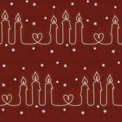 Three candles and a heart_gingerbread