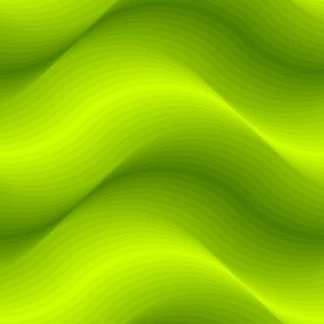 billows : chartreuse lime green