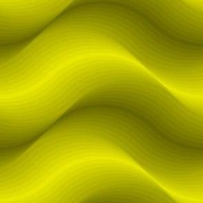 billows : acid yellow olive green