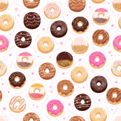 Donuts and little hearts