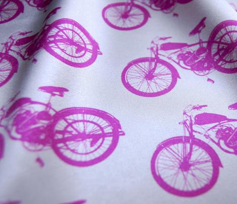 """4"""" Pink Vintage Motorcycles"""