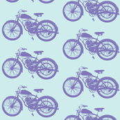 "4"" Purple Vintage Motorcycles"
