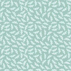 White Coral on Light Aqua