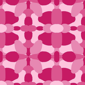 Hot Pink Camo Camouflage Abstract Design
