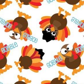 Thanksgiving Funny Gobble Gobble Turkey Face