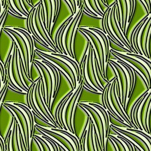 Waves in bamboo green