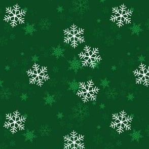 Snowflake Wrapping Paper - green