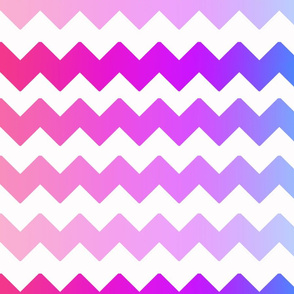 Rainbow Ombre Chevron
