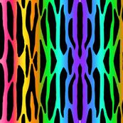 Rainbow Zebra Stripes Safari Jungle Animal Print