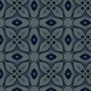 Floral Blocks in Shades of Blue