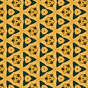 Small Scale Green and Yellow Geometric