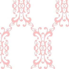 Pink and White Brocade