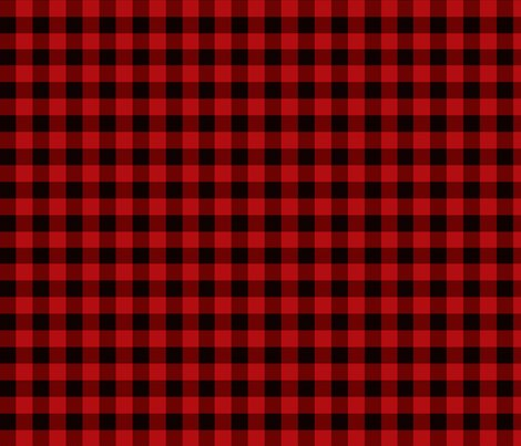 Red Buffalo Plaid Fabric Angiehiller Spoonflower