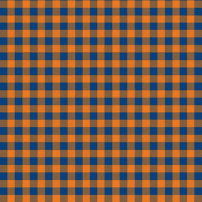 Orange and Blue Buffalo Plaid