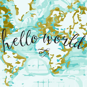 Hello World Changing Pad Cover