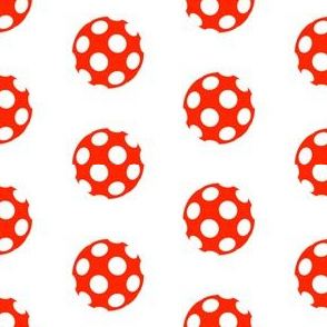 Holey Red Polka Dots