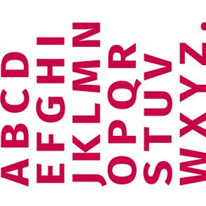 Alphabet Panel 1 Yard