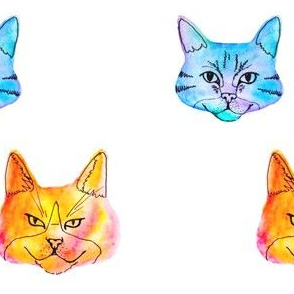 Water Color Cats