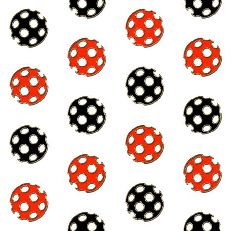 Red and Black Gilt-edged Polka Polka Dot Chevron