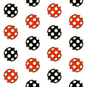 Red and Black Gilt-edged Polka Polka Dot Chevron
