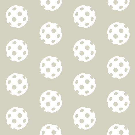 Mushroom and White Polka Polka Dots