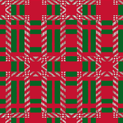 green and red plaid