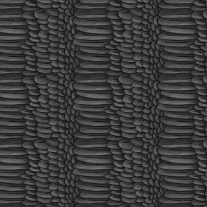 Black and Dark Grey Crow Feather Mantle - Lengthwise