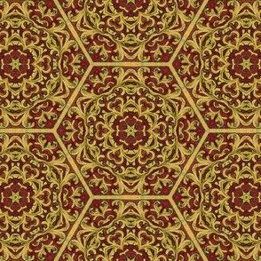 Medieval Kaliedoscope - Red and Gold