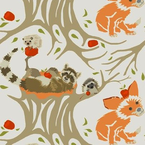 Woodland Creatures in Earthtones