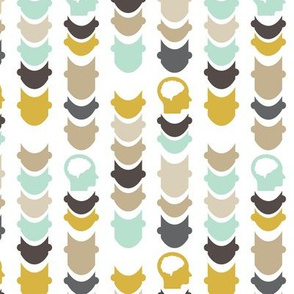 Chevron Spinalcord - Gold - Brown - Tan - Aqua