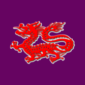Dragon Red on Purple