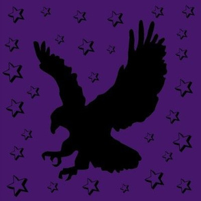 Eagle on Purple with Stars