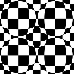 Black and White Checkerboard 3-D Illusion Dots