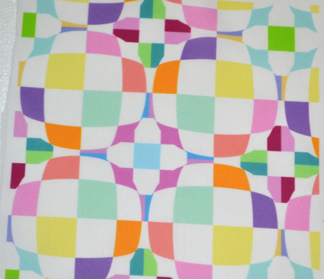Easter Pastel Checkerboard 3-D Illusion Dots