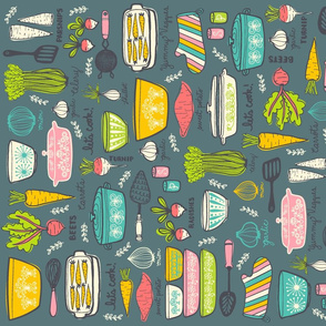Vintage Kitchen Fat Quarter