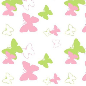 Pink Green Butterfly