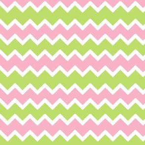 Pink Mint Green Chevron