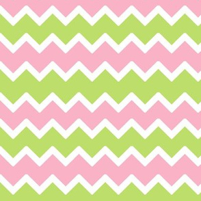 Pink Mint Green Chevron Baby Pastel