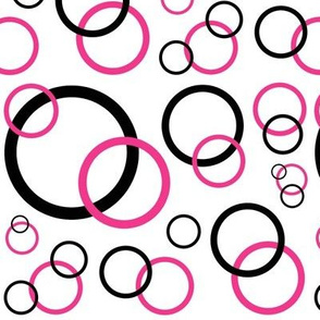 Hot Pink Geometric Circle Design